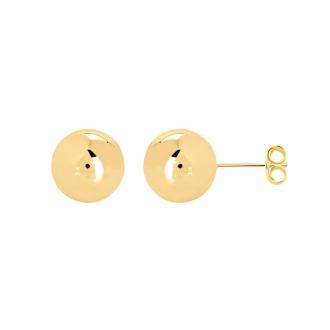 Boucles d'oreilles Carador boule 12 mm en plaqué or