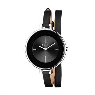 Montre Femme Elixa Finesse cuir noir E063-L207