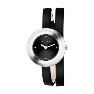 Montre Femme Elixa Finesse cuir noir E092-L353