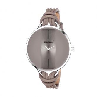 Montre et bracelet Elixa Finesse argentée et grise E096-L375-K1