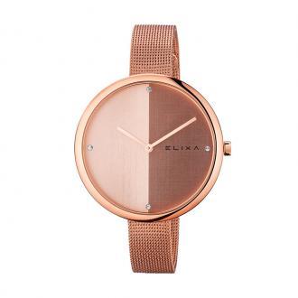 Montre femme Elixa Beauty milanaise acier doré rose E106-L426
