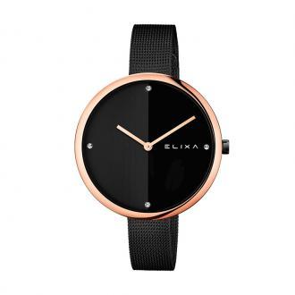 Montre Femme Elixa Beauty dorée rose et noire E106-L427