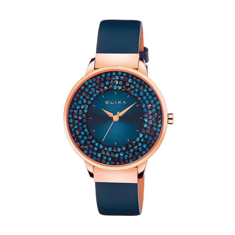 Bevorzugt Montre femme Elixa Finesse bleue, cuir et cristaux E114-L464 pour  GY22