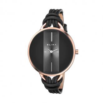 Montre et bracelet Elixa Finesse noire et dorée rose E096-L371-K1
