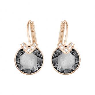 Boucles d'oreilles Swarovski Bella V dorées rose et cristal gris 5299317