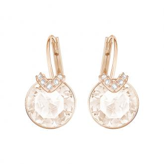 Boucles d'oreilles Swarovski Bella V dorées rose et cristal rose 5299318