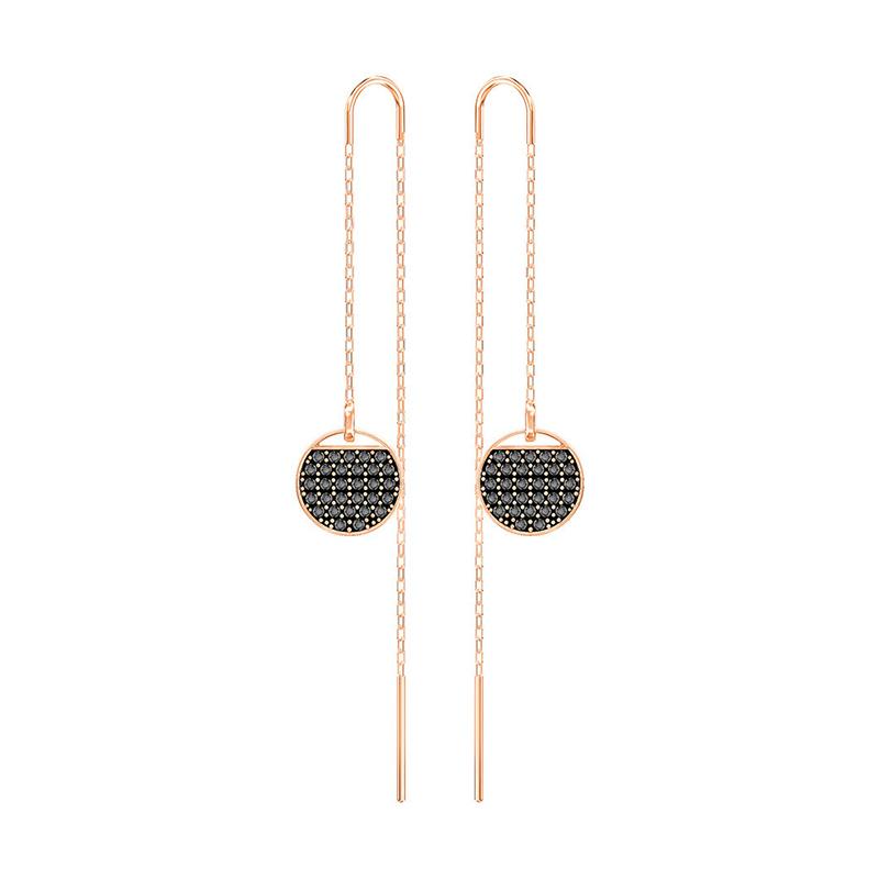 Boucles d'oreilles Swarovski Ginger Chain dorées rose 5347293
