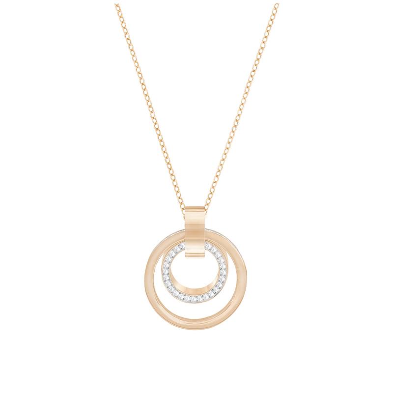 Collier Femme Swarovski Hollow Medium doré rose 5349418