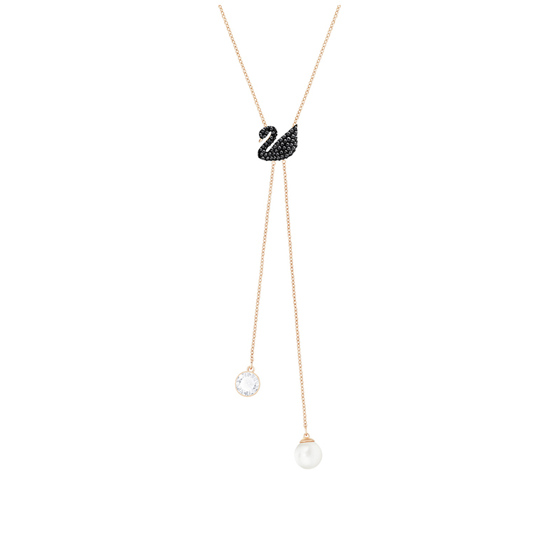 Collier femme Swarovski Iconic Swan Double Y 5351806