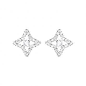 Boucles d'oreilles Swarovski Sparkling DC Stud Star argentées 5364218