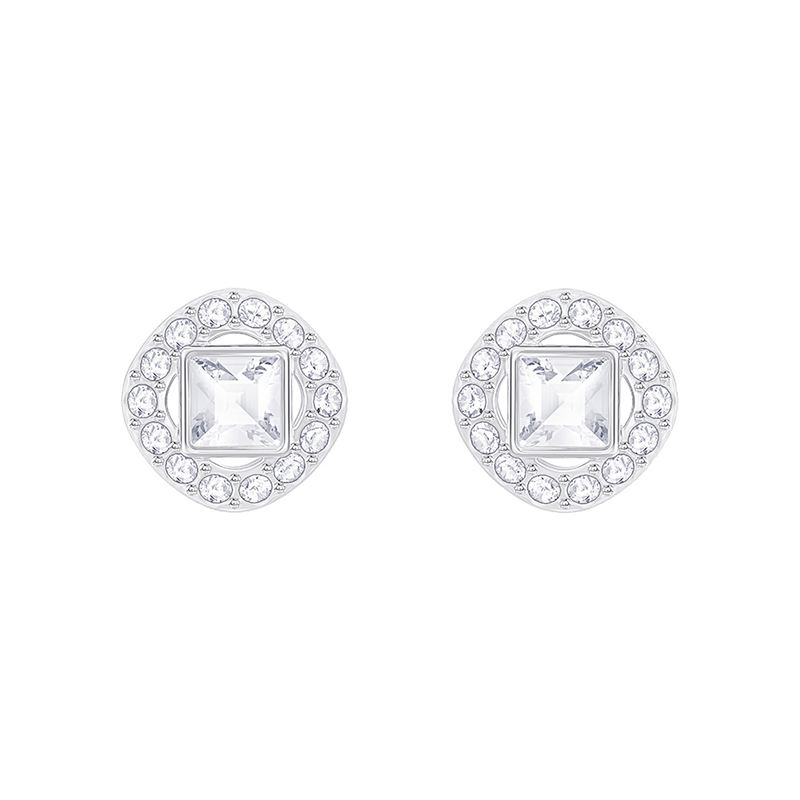 Boucles d'oreilles Swarovski Angelic Square argentées 5368146