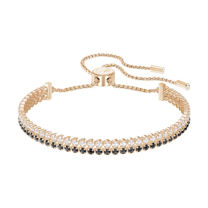Bracelet femme Swarovski Subtle double doré rose 5352092
