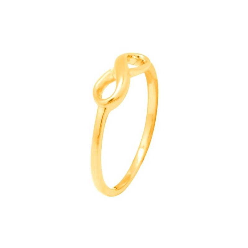 Bague femme Carador motif infini petite taille plaqué or