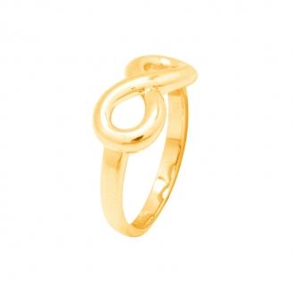 Bague femme Carador motif infini grande taille plaqué or