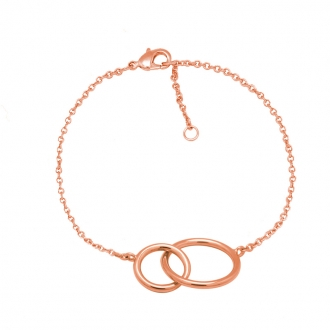 Bracelet Carador plaqué or rose anneaux femme