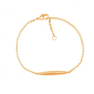 Bracelet Carador plaqué or avec ogive