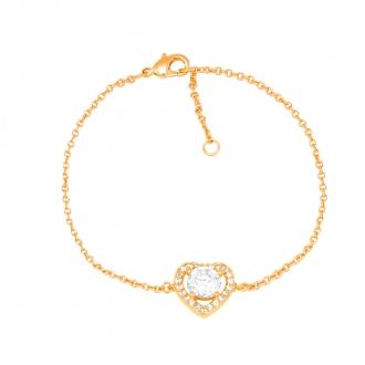 Bracelet Carador plaqué or coeur