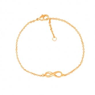 Bracelet Carador plaqué or jaune femme signe infini