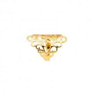 Bague Carador arabesque plaqué or