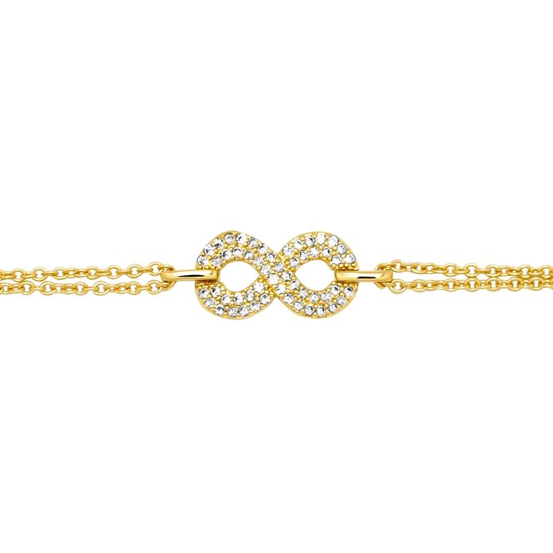 Bracelet Carador Femme Plaqué or symbole infini
