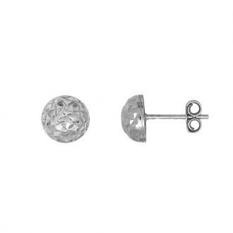 Boucles d'oreilles Carador Argent 925/000 forme bombée