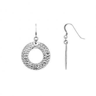 Boucles d'oreilles Carador pendantes 4 cm cercle BOA181165