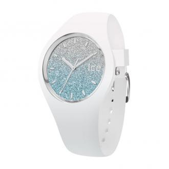 Montre Ice Lo Blanc et bleu pailleté Taille S 013425