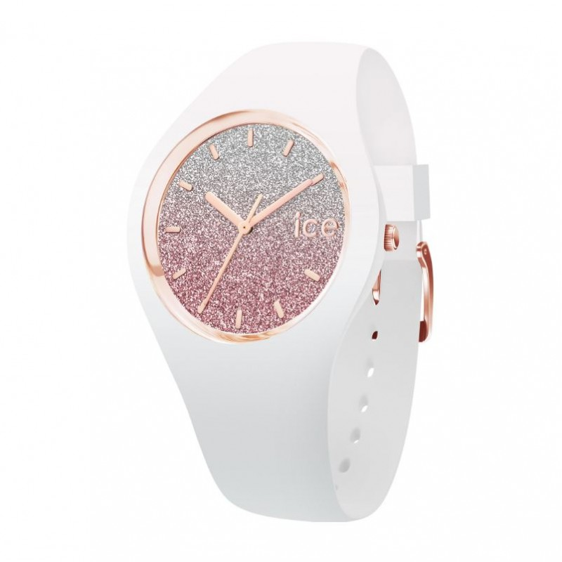 Montre Ice Lo Blanc et rose Taille S 013427