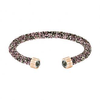 Bracelet jonc Swarovski Crystaldust multicolore et doré rose 5348098