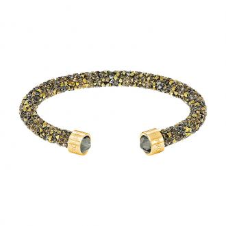 Bracelet jonc Swarovski Crystaldust multicolore et doré 5348101