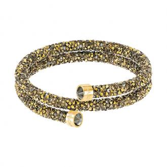 Bracelet jonc Swarovski Crystaldust double noir et doré 5373047
