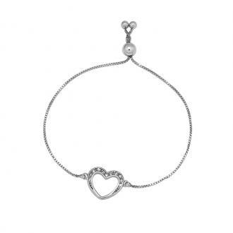 Bracelet Carador BRA108358A18 ajustable Argent 925/000 Coeur