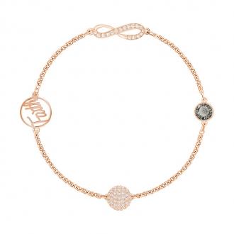 Bracelet Swarovski Remix Infinity, métal plaqué or rose 5365734