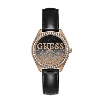 Montre femme Guess Glitter Girl noire et dorée rose W0823L14