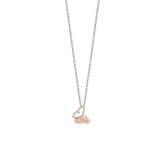 Collier Guess Mariposa papillon doré rose UBN83019