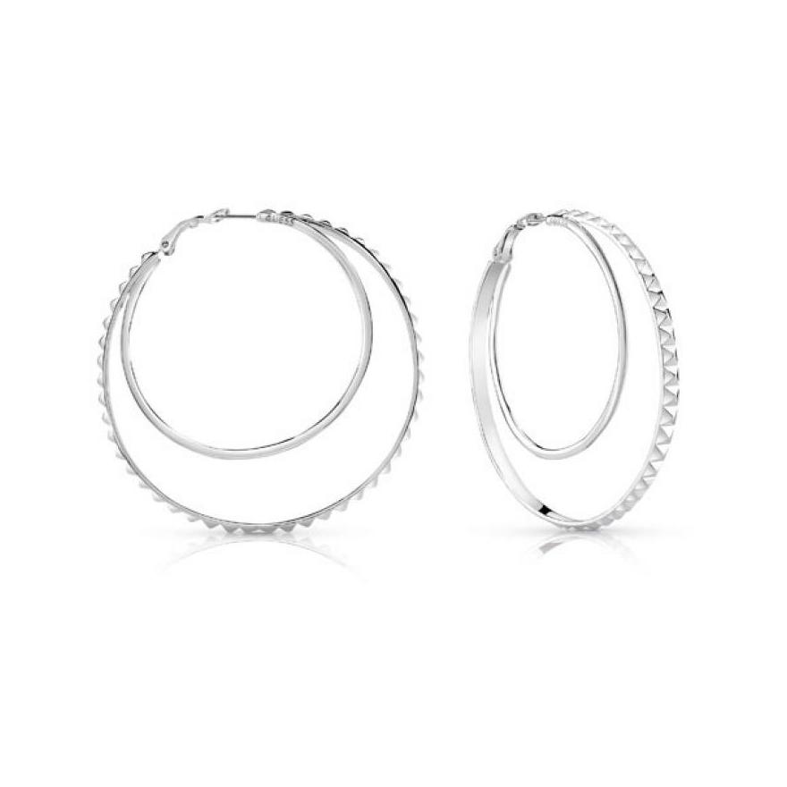 Boucles d oreilles Créoles Guess métal argenté UBE84069 pour FEMME 8faeb547cd73
