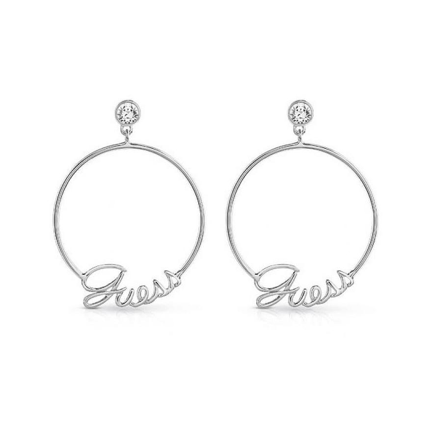 Boucles d oreilles Guess Hoops métal argenté UBE84041 pour FEMME 6a9da6bf1e72