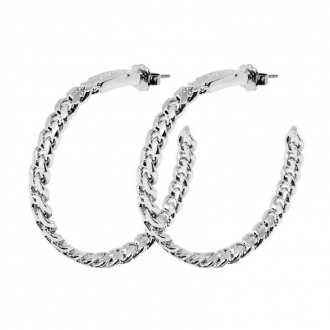 Boucles d'oreilles Créoles Guess métal argenté UBE84043