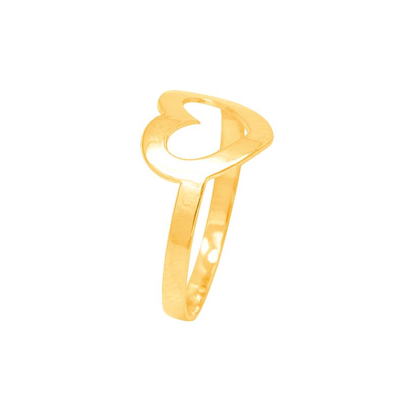 Bague Carador Large Coeur Or jaune 375/000