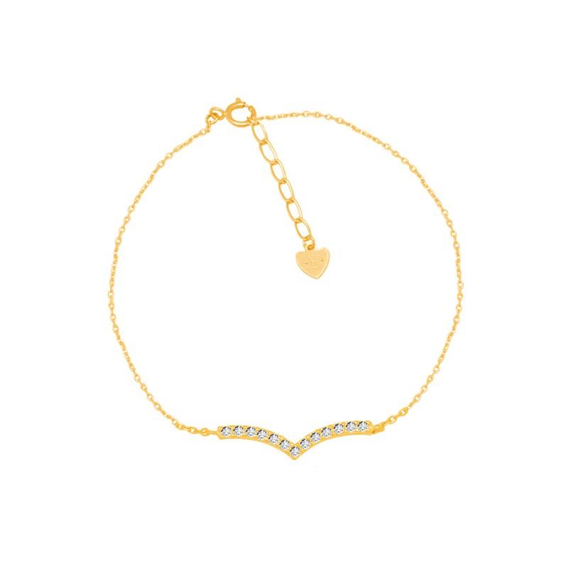 Bracelet CARADOR Femme Or jaune 375/000e pavage zircons
