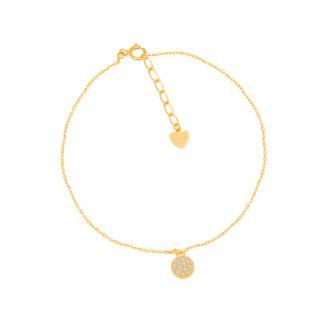 Bracelet CARADOR Or jaune 375/000e dôme brillant