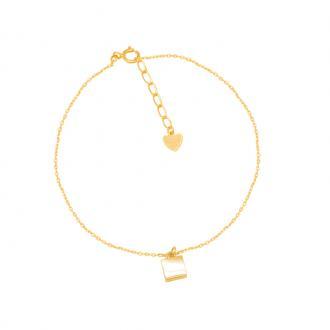 Bracelet Carador Femme Or jaune 375/000e modèle géométrique