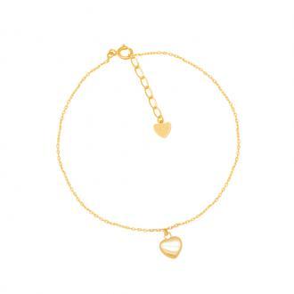 Bracelet Carador Femme Or jaune 375/000e modèle coeur