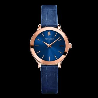 Montre Pierre Lannier femme cuir bleu 023K966