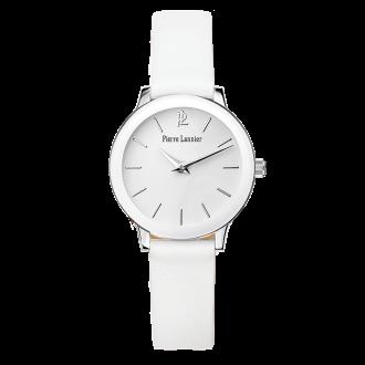 Montre Pierre Lannier femme bracelet cuir blanc 019K600