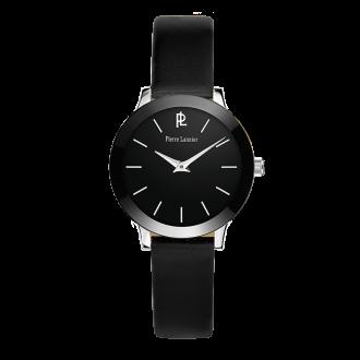 Montre Pierre Lannier femme bracelet cuir noir 019K633