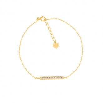Bracelet CARADOR Femme or jaune 375/000e ligne