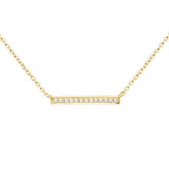 Collier CARADOR Femme or jaune 375/000e ligne