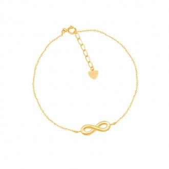 Bracelet CARADOR Infini Or jaune 375/000e