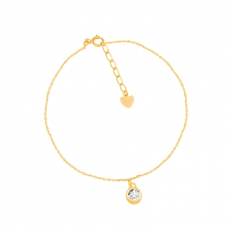 Bracelet CARADOR Or jaune 375/000e solitaire